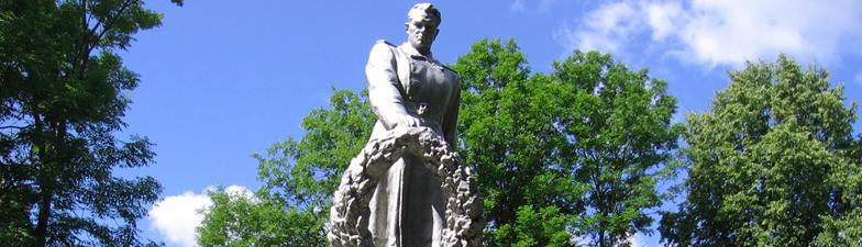 Помнік загінулым воінам і партызанам у г.п. Ушачы